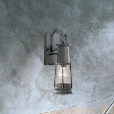 stylish outdoor seeded glass wall lantern light