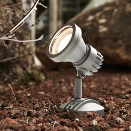 grey LED outdoor spotlight