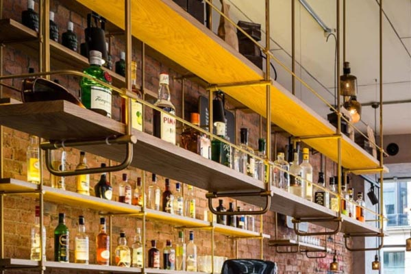 Over Bar Storage,Top Bar Storage,Bespoke Bar Storage