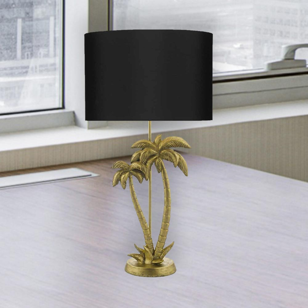 Palm Tree Table Lamp With Shade
