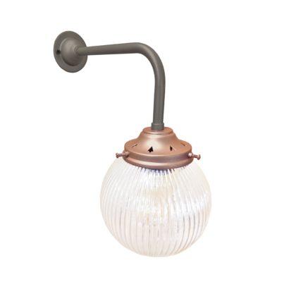 Petwer & Copper Prismatic Globe Wall Light