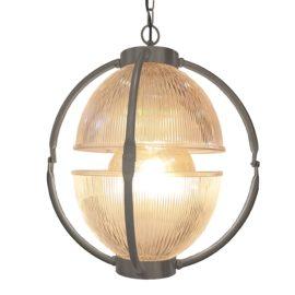 Pewter Glass Orb Pendant Light,Prismatic Glass Orb Pendant Light