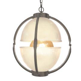 Pewter Glass Orb Pendant Light,Frosted Glass Orb Pendant Light