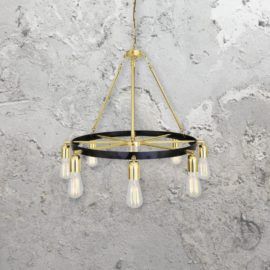 Polished Brass Chandelier Wheel