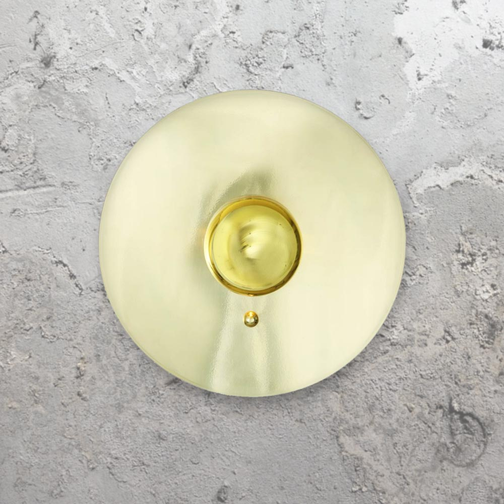 Brass disc wall light cl 33523 4 products e2 contract lighting uk round polished brass disc wall lightdisc wall lights aloadofball Choice Image