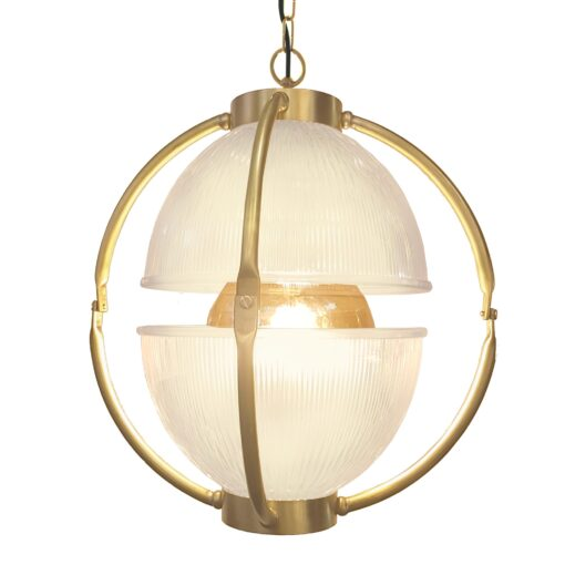 Polished Brass Glass Orb Pendant Light,Frosted Glass Orb Pendant Light