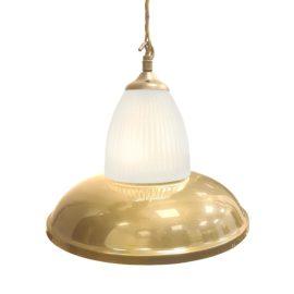 Polished Brass Glass Pendant Light,Industrial Traditional Glass Pendant Light