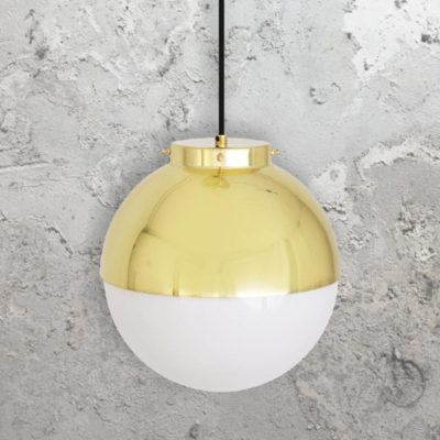 Polished Brass Globe Pendant Light