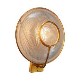 Polished Brass Prismatic Glass Dish Wall Light