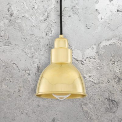Polished Brass Small Vintage Pendant Light