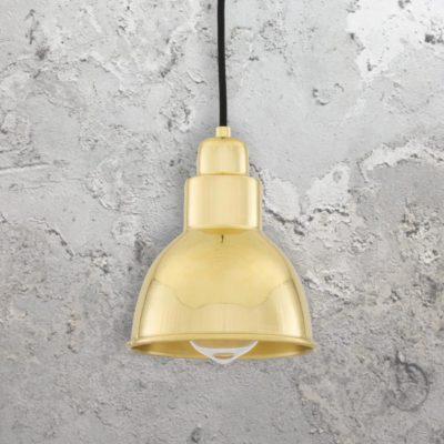 Polished Brass Small Vintage Pendant Light