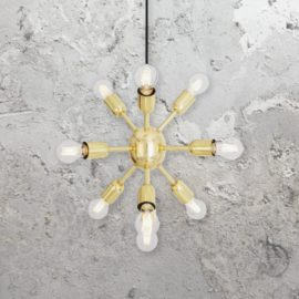 Polished Brass Sputnik Chandelier