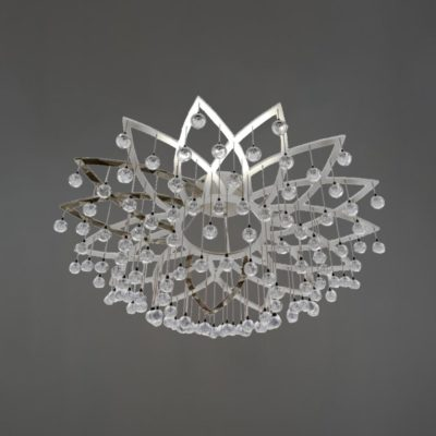 Polished Chrome Semi Flush Flower Feature Light