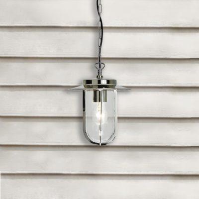Polished Nickel Exterior Pendant Light