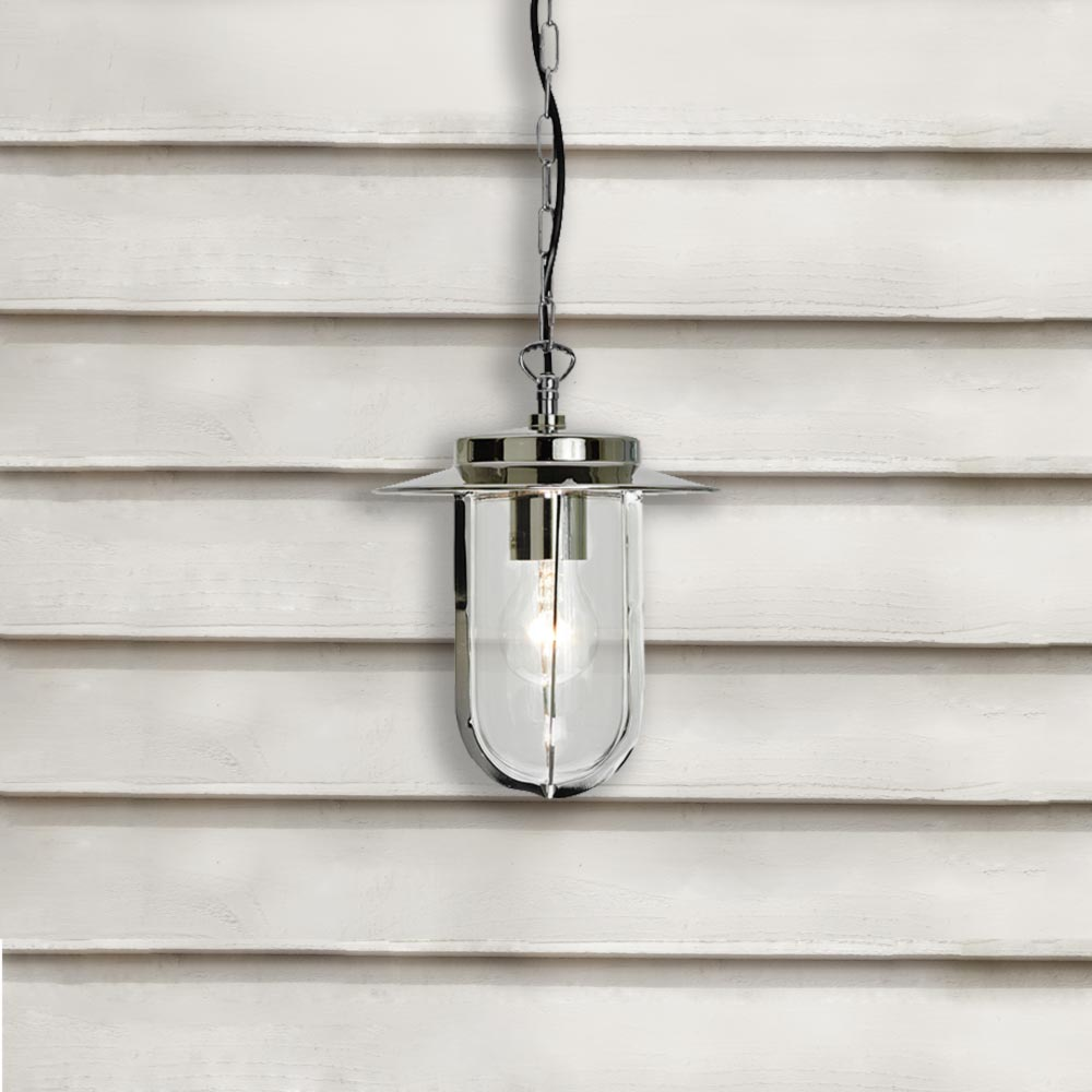 Polished Nickel Exterior Pendant Light CL 24360