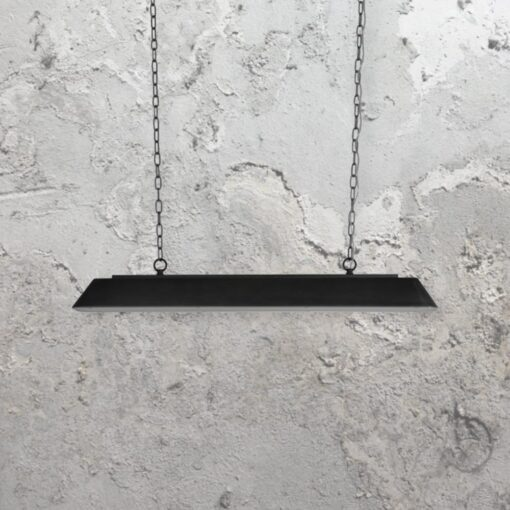 dark grey metal large traditional pool table pendant light
