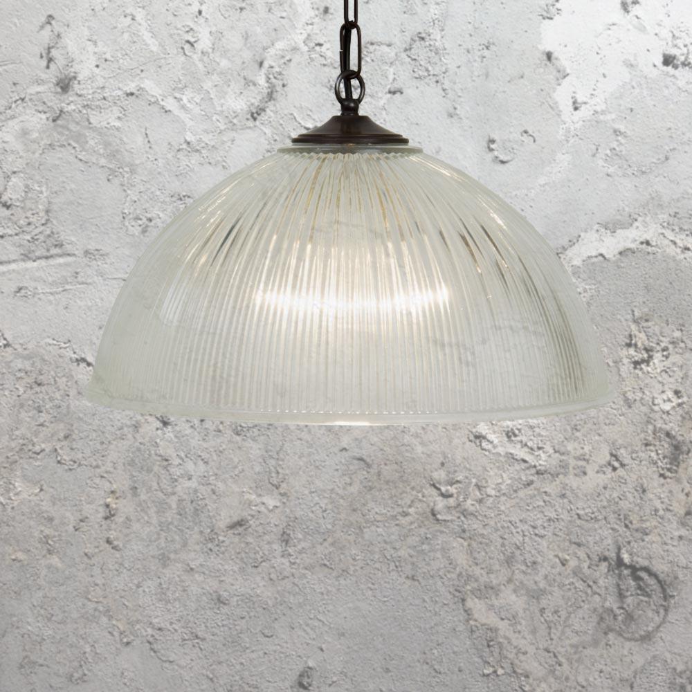 Prismatic glass pendant lights