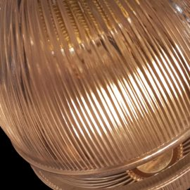 Prismatic Ribbed Glass Orb Pendant Light