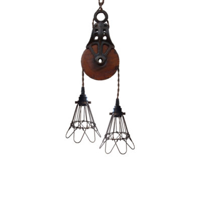 Pulley Cage Rope Pendant