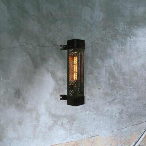 Reclaimed Box Cage Wall Light