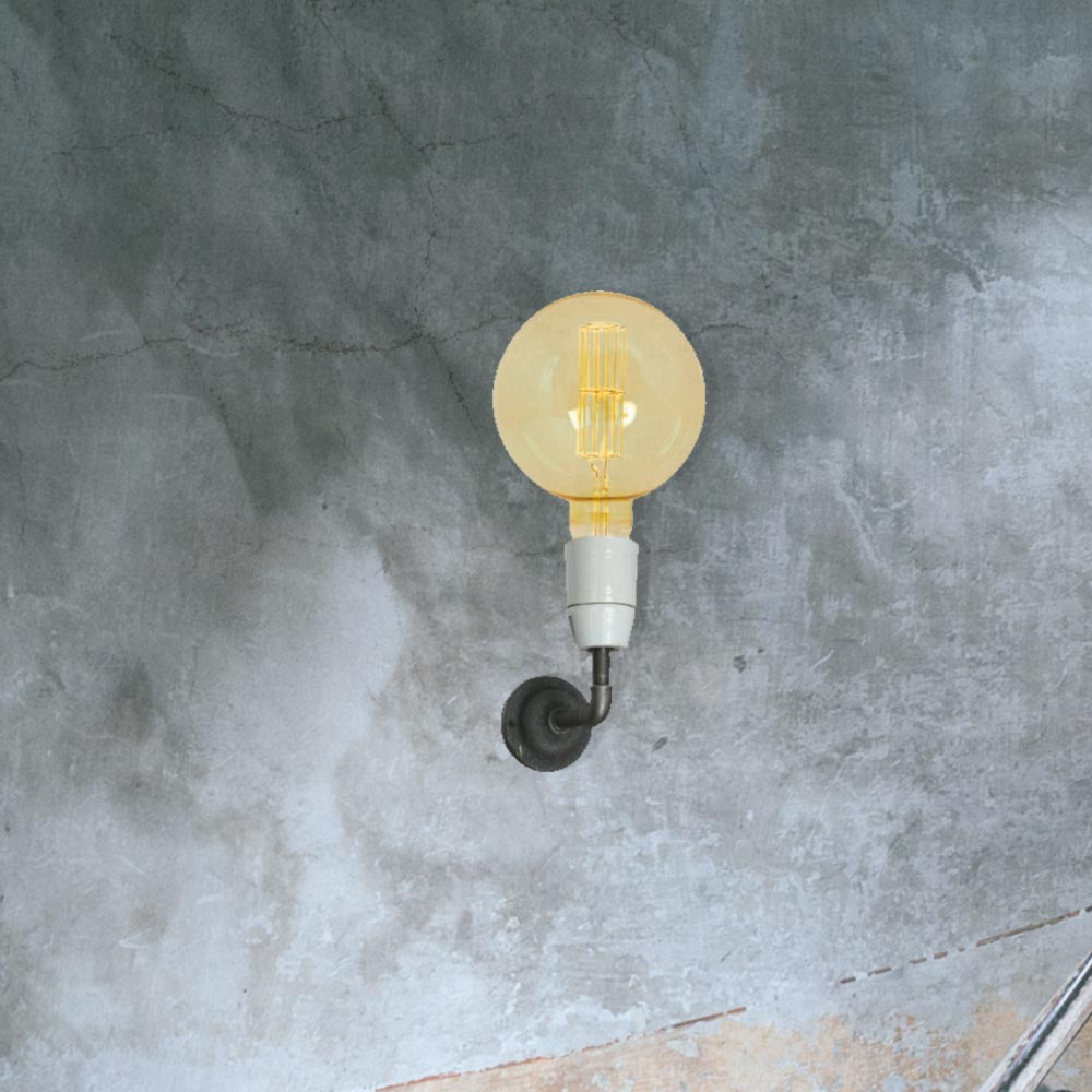 reclaimed cast iron porcelain wall light 00576 e2 contract