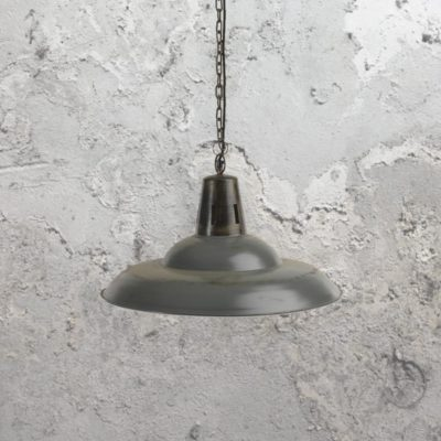 Reclaimed Distressed Grey Pendant Light