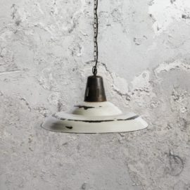 Reclaimed Distressed White Pendant Light