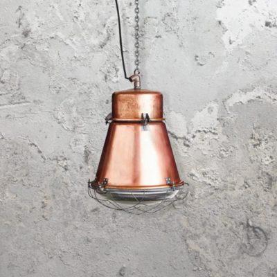 Reclaimed Factory Copper Pendant Light