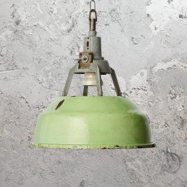 Reclaimed Green Factory Pendant