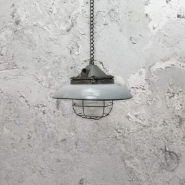 Reclaimed Grey Enamel Pendant Light