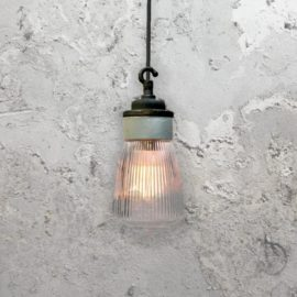 Reclaimed Porcelain Prismatic Glass Pendant Light