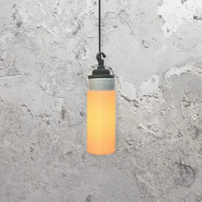 Reclaimed White Frosted Glass Pendant Light