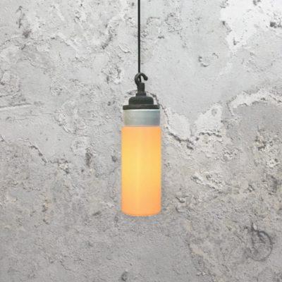 Reclaimed White Frosted Glass Pendant Light