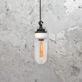 Reclaimed White Porcelain Pendant Light