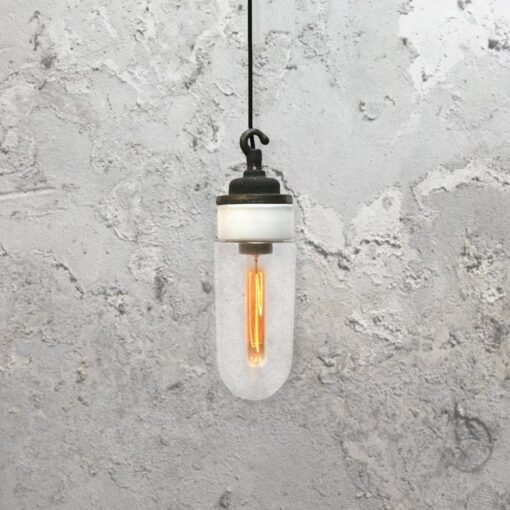 Reclaimed White Porcelain Pendant Light