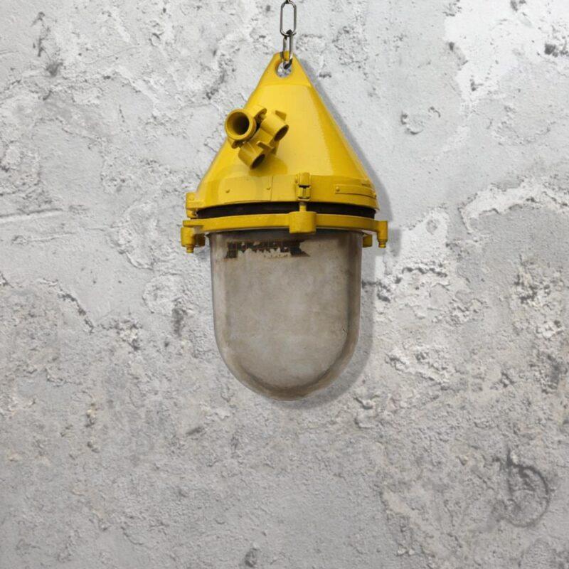 Reclaimed Yellow Pendant