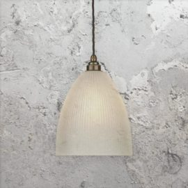 Reeded Opal Glass Pendant Light