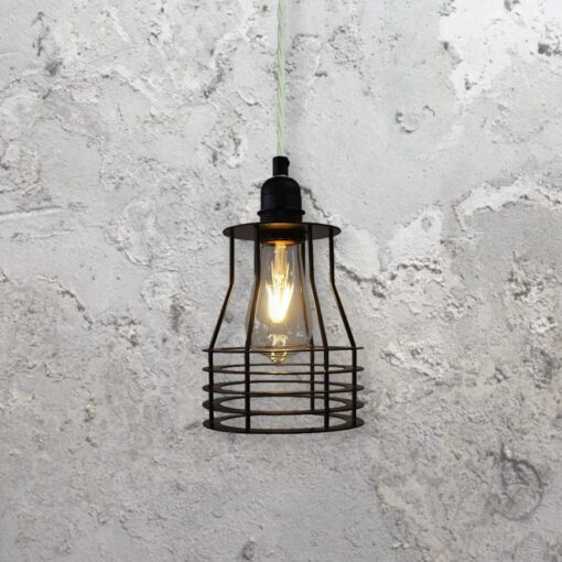 Flat Cage Pendant Light