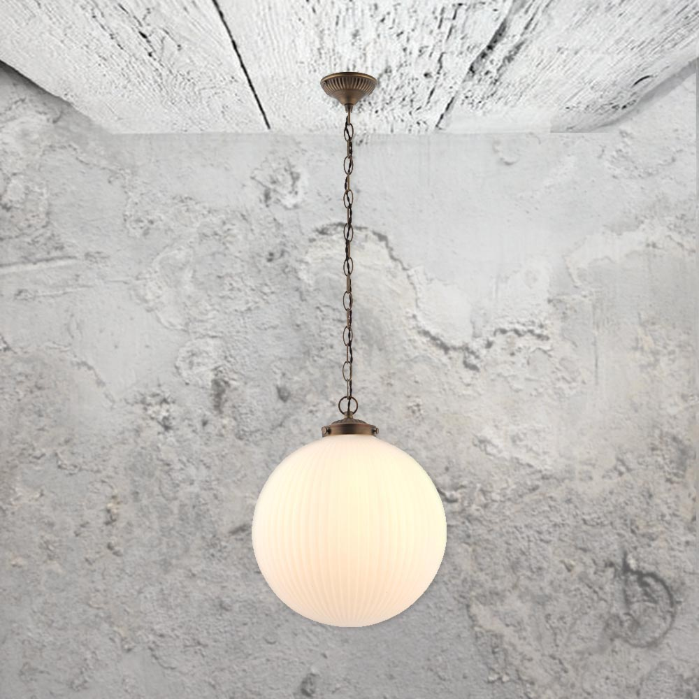 Ribbed round glass pendant light cl 33624 5 e2 contract lighting uk ribbed round glass pendant light aloadofball Images