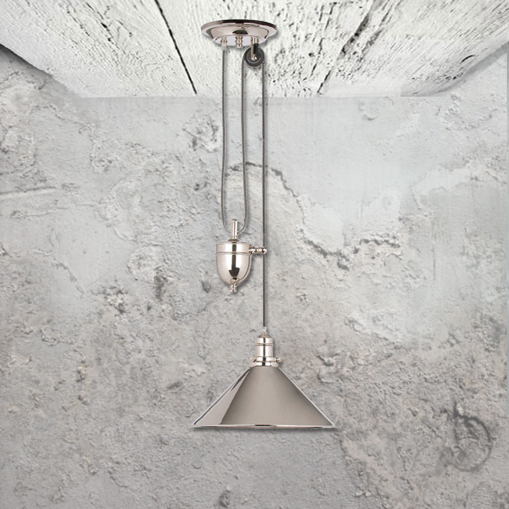Industrial Rise And Fall Pendant Light: Rise And Fall Pendant