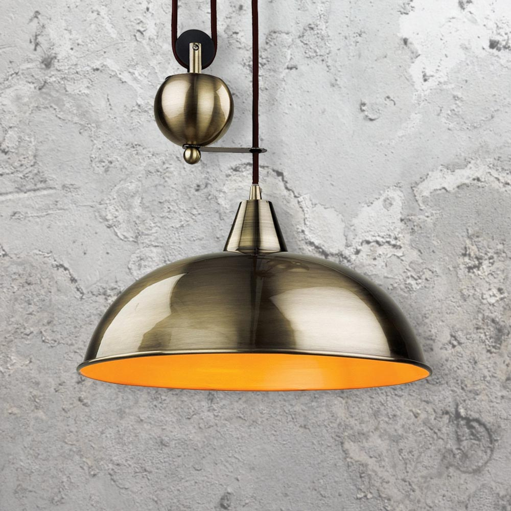 Industrial Rise And Fall Pendant Light: Rise And Fall Pendant Lights CL-26270-3