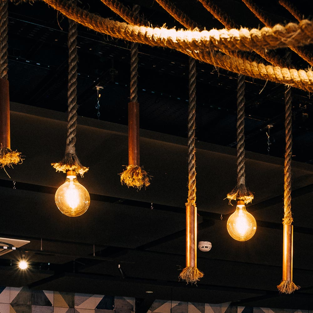 Rope feature lights clb 00370 e2 contract lighting bespoke uk rope feature lights mozeypictures Gallery