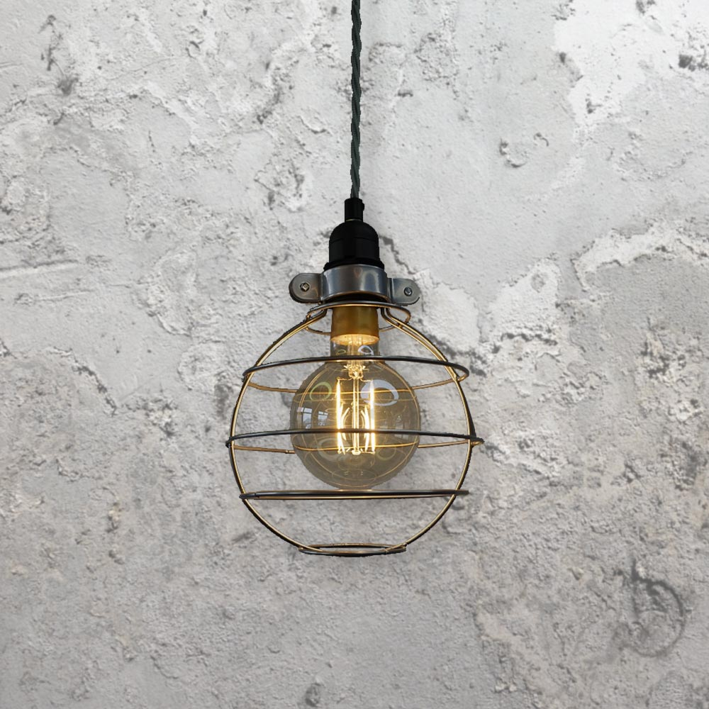 Hanging Light Round: Round Cage Pendant Light CLB-00517
