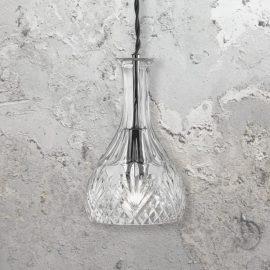 Round Glass Decanter Pendant Light