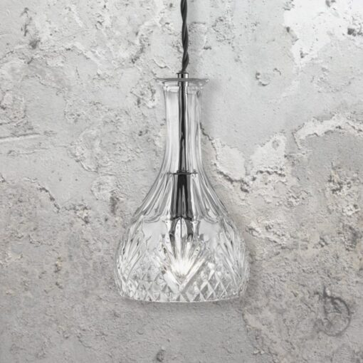 Round Glass Decanter Pendant Light