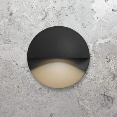 Black Round LED Marker Light