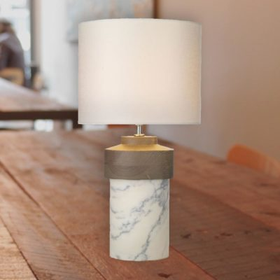 Round Marble Base Table Lamp
