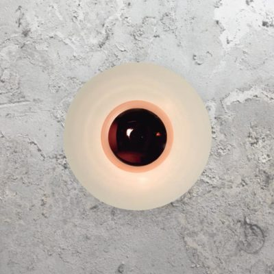 Copper Round Modern Wall Light
