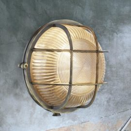 Antique Brass Round Outdoor Bulkhead Fitting