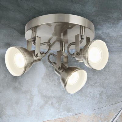 Round Plate 3 Light Ceiling Spotlight